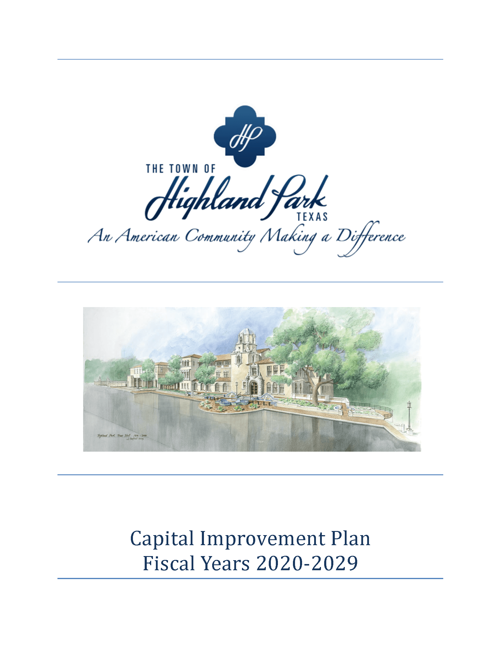 Cover from Capital Improvement Plan
